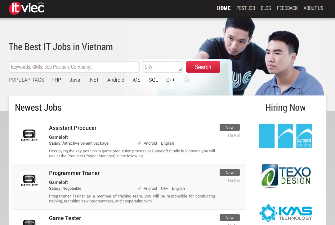 ITviec - The Best IT Software Developer Jobs in Vietnam